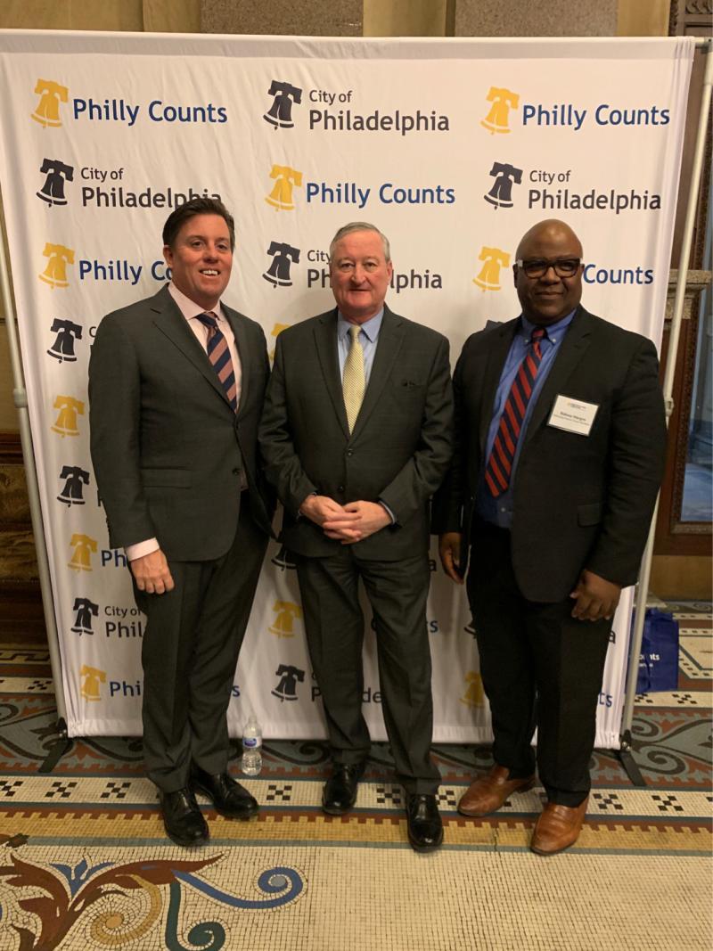 Bill Golderer, Mayor Kenney, Sidney Hargro