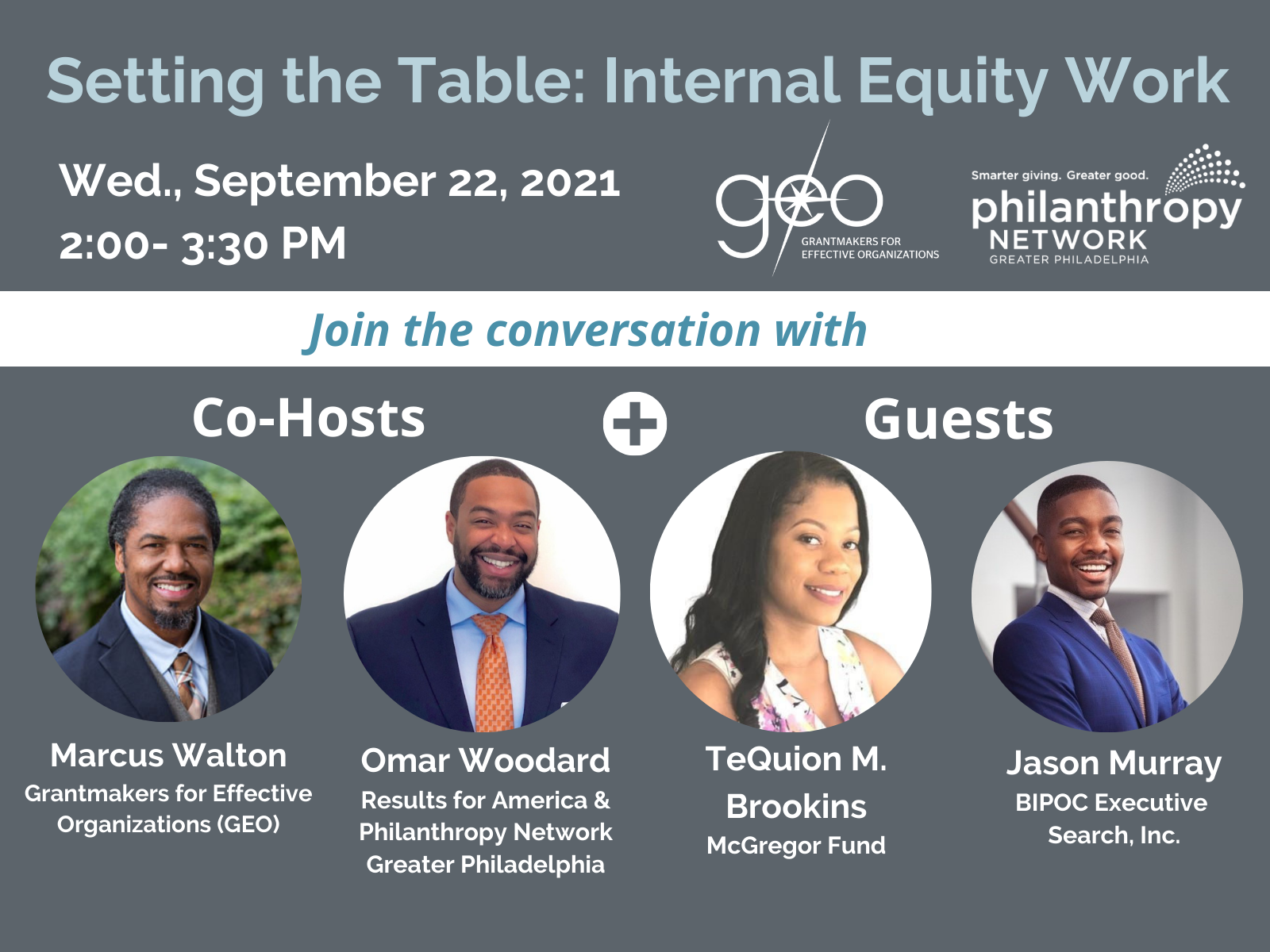 Setting the Table - Internal Equity Work