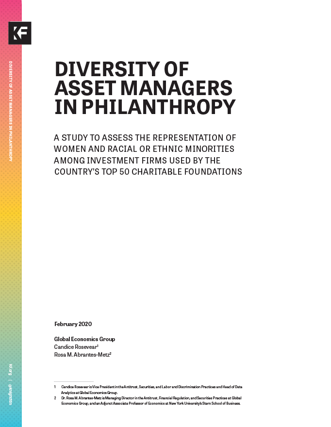 Diversity of Asset Managers in Philanthropy