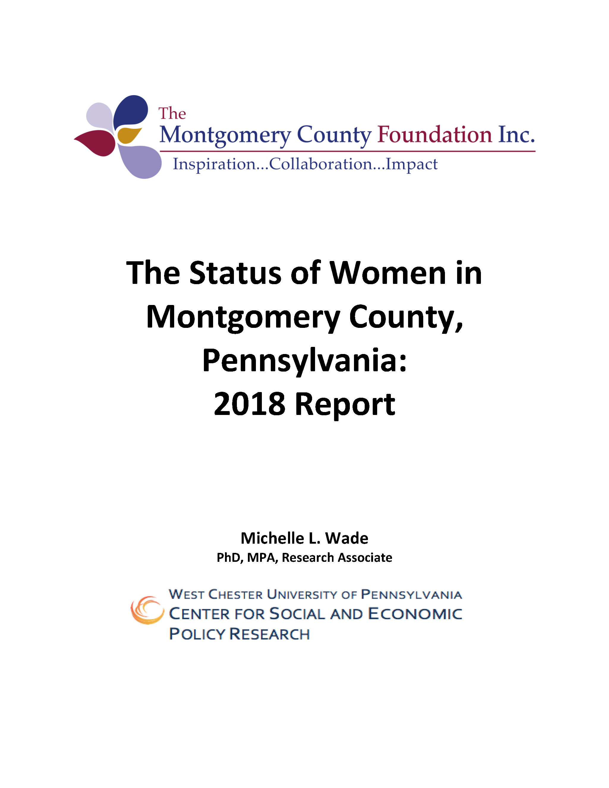 The Status of Women in Montgomery County, PA